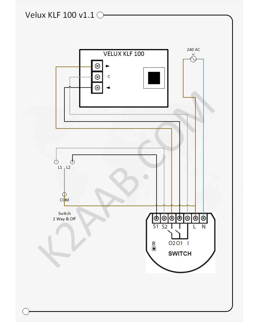 Controling Velux Windows With Fibaro The World That Is K2aab Pin Way Switch Wiring Diagram Electrical Pinterest On