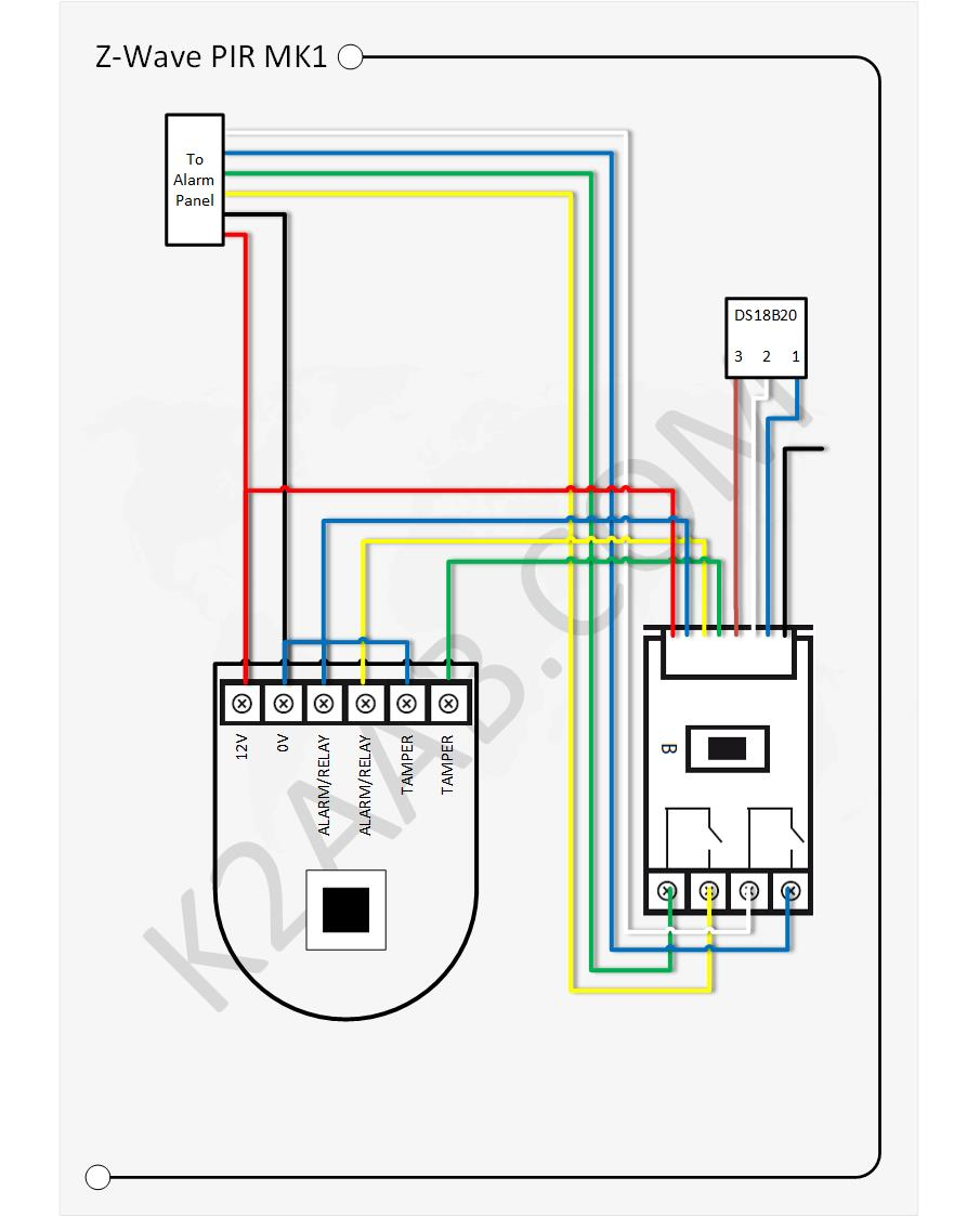 Pir Alarm Sensor Wiring Diagram Electrical Circuitdb Adding Z Wave Functionality To Existing The World Burglar Motion
